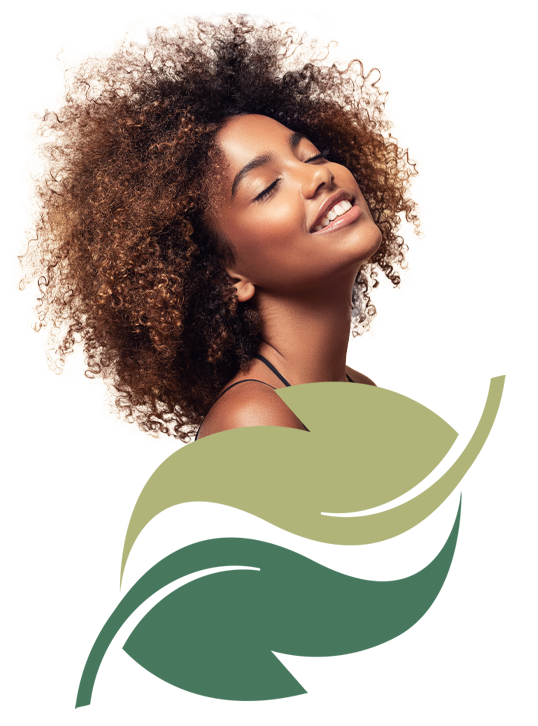 Dilworth Derm African American Girl with Beautiful Hair on logo